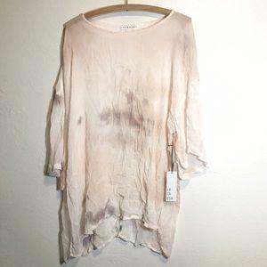 LACAUSA Tie Dye Gauze Dress Women's Small NEW